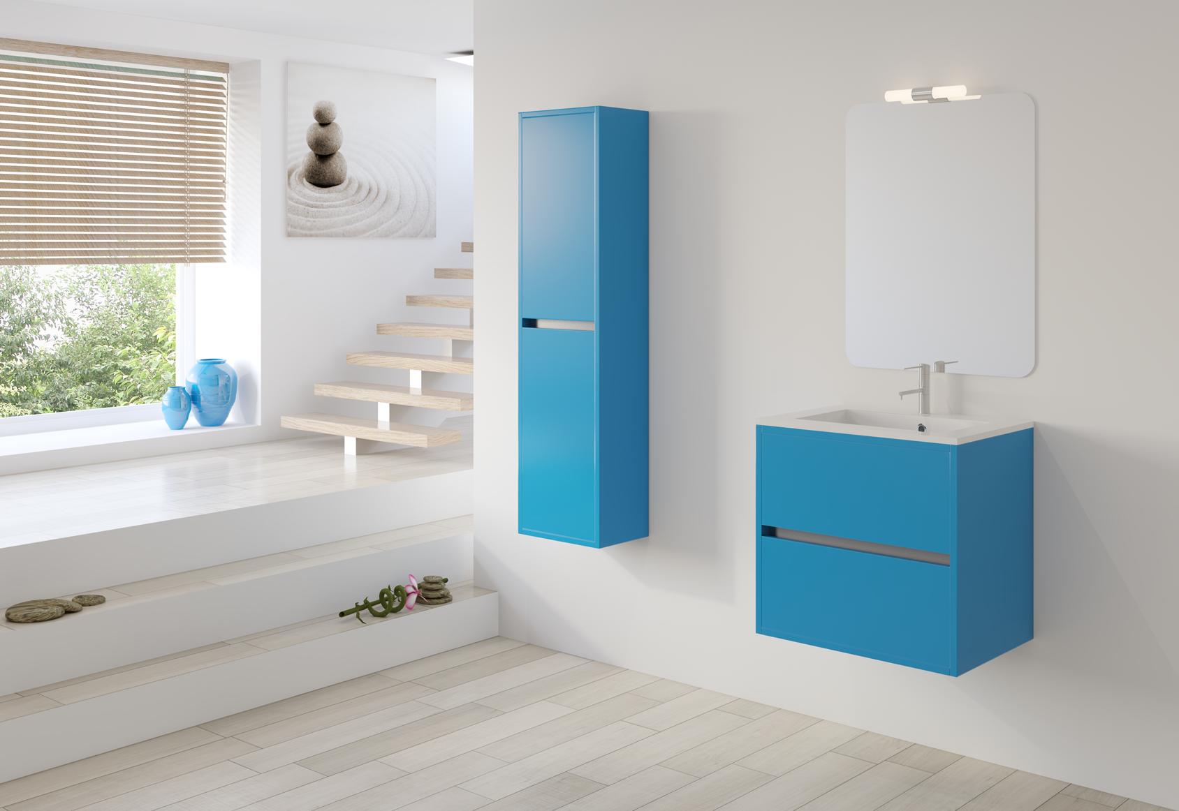 Mueble Baño Azul Turquesa:Baños a medida